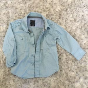 Other - Infant 0-3 M Blue Long Sleeve Blouse Shirt